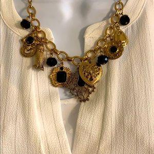 Black Florentine type necklace